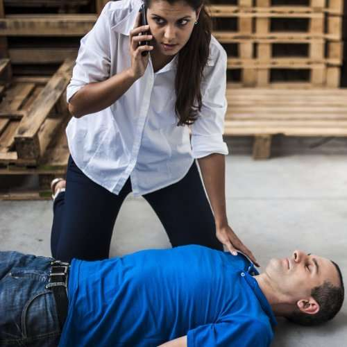 open emergency first aid at work